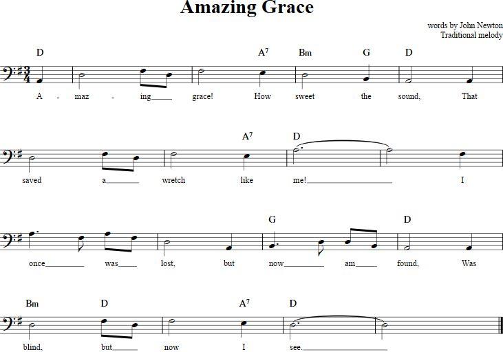 Amazing Grace Cello Sheet Music - http://cellosheetmusic.net/title/amazing-grace/