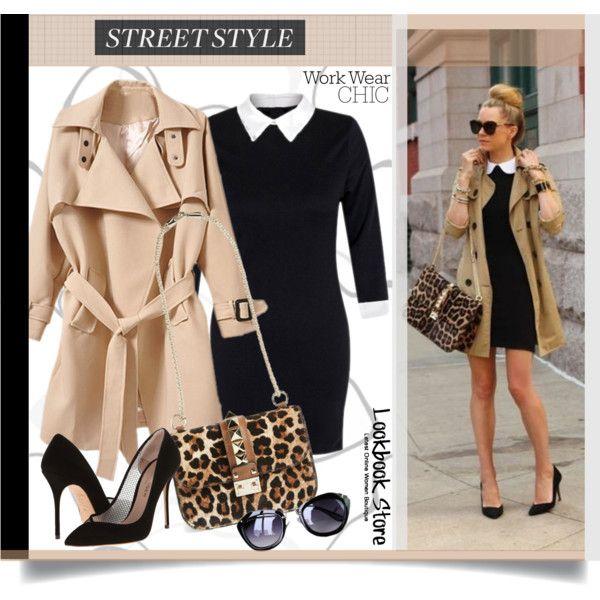 Street Style/work wear chic... by unamiradaatuarmario on Polyvore featuring Kurt Geiger, Valentino, StreetStyle, WorkWear, animalprint, Trench and StreetChic