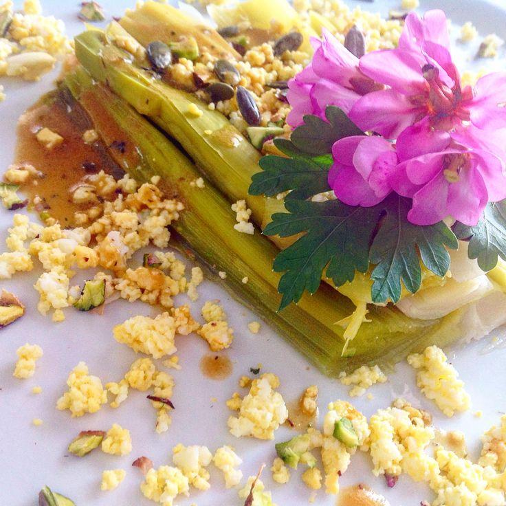 Entrée poireaux. Poireaux vinaigrette . Vitaliseur . Bio.http://les-kifs-de-sandra.com/poireaux-vinaigrette/
