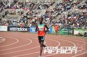David Lekuta Rudisha from Kenya