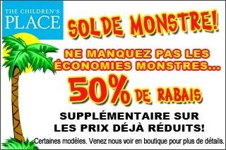 Children's Place - Le dernier cri, à petit prix - 50% de rabais  http://www.groupvaudreuil.com/vetements/the-childrens-place-50-de-rabais