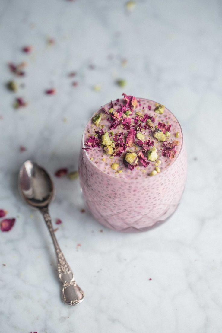 Creamy Cardamom Rose Chia Pudding