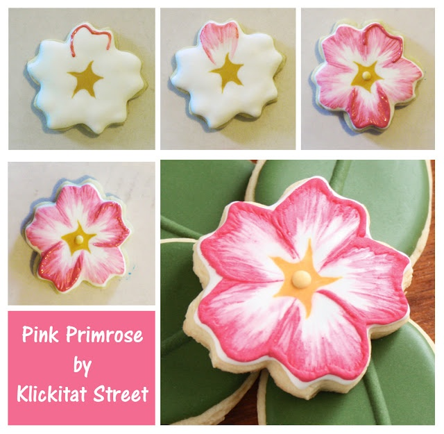 Primrose Cookies - an experiment with brush embroidery