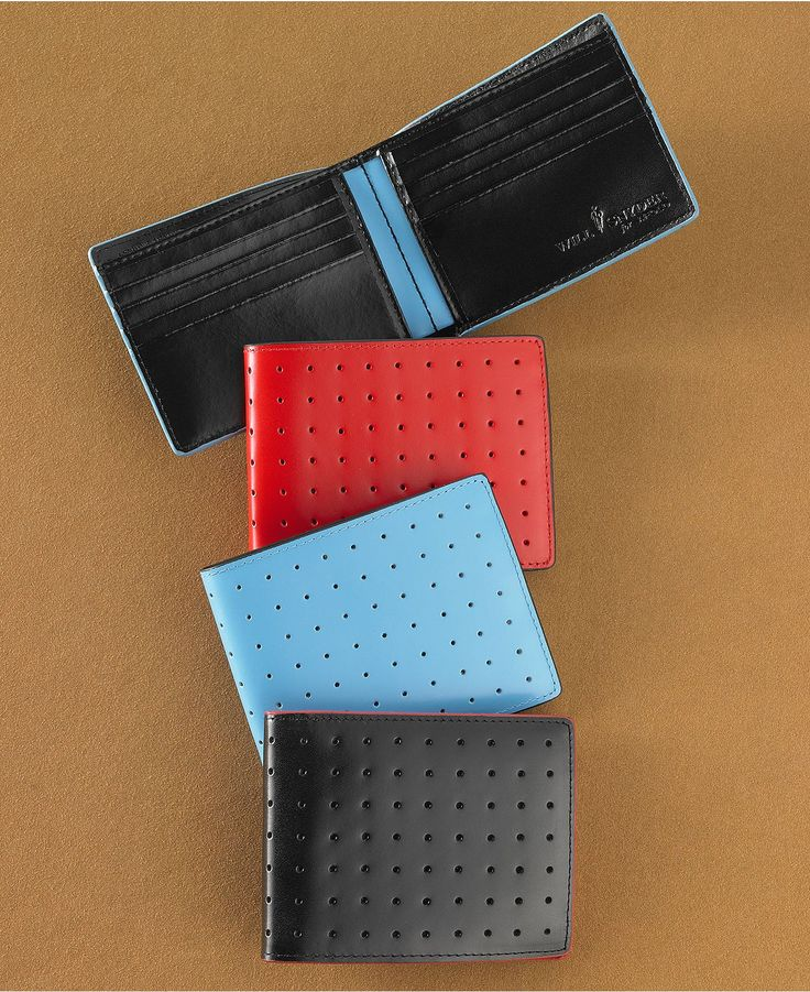 Will Snyder for J. Fold Wallet, Slim Perforated Wallet - Mens Men's Wallets - Macy's