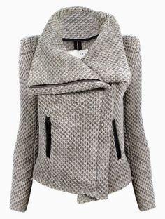 Quart coat pattern variation: transform it into a zipped biker jacket! (pauline…