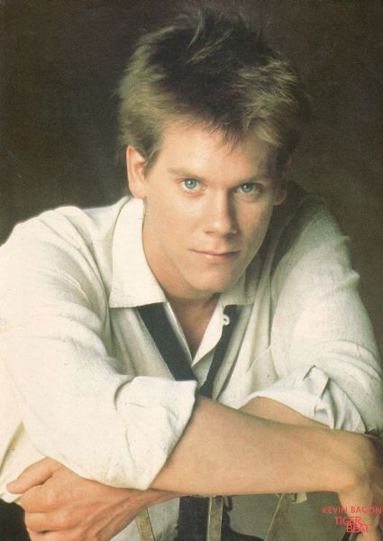 Kevin Bacon. I had this poster in my teenage bedroom.