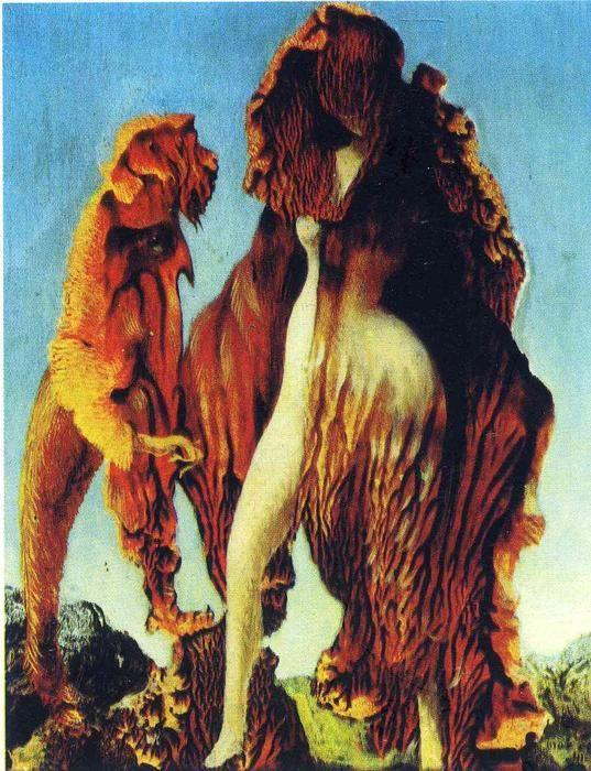 'Wizard Woman', öl auf leinwand von Max Ernst (1891-1976, Germany)