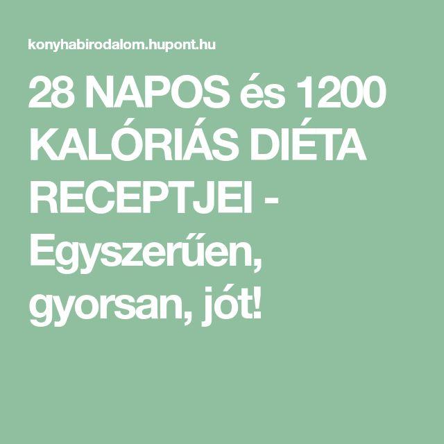 28 NAPOS és 1200 KALÓRIÁS DIÉTA RECEPTJEI - Egyszerűen, gyorsan, jót!