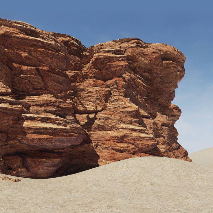 Modular Cliff, David DeCoster on ArtStation at https://www.artstation.com/artwork/modular-cliff