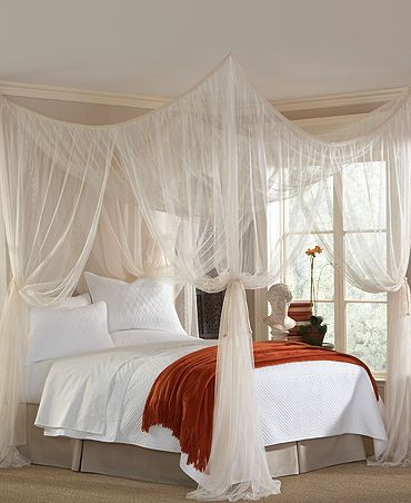 feng shui bedroom cure for heavy objects in the ceiling. Protect your energy and love with a light fabric or canopy - Macy's $65