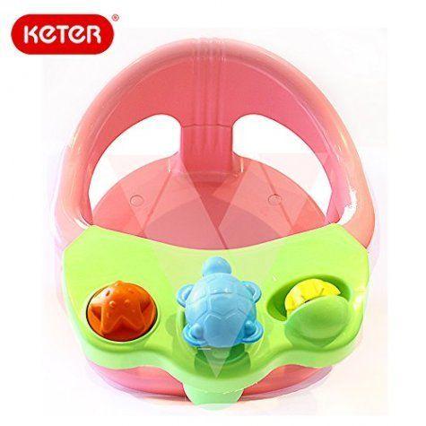 keter baby bath tub ring seat splash with toys anti slip. Black Bedroom Furniture Sets. Home Design Ideas