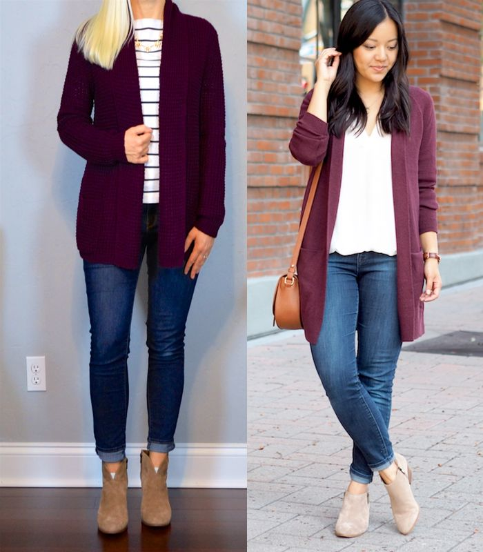 outfit post: burgundy knit cardigan, striped shirt, skinny jeans, ankle boots http://outfitposts.com/2016/11/outfit-post-burgundy-knit-cardigan-striped-shirt-skinny-jeans-ankle-boots.html?utm_campaign=coschedule&utm_source=pinterest&utm_medium=Outfit%20Posts&utm_content=outfit%20post%3A%20burgundy%20knit%20cardigan%2C%20striped%20shirt%2C%20skinny%20jeans%2C%20ankle%20boots