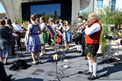 Nadia Mikushova. German Orchestra is playing traditional German songs at the EXPO Milano 2015.1.a