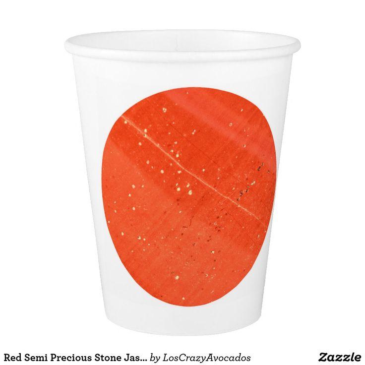 Red Semi Precious Stone Jasper Texture Paper Cup
