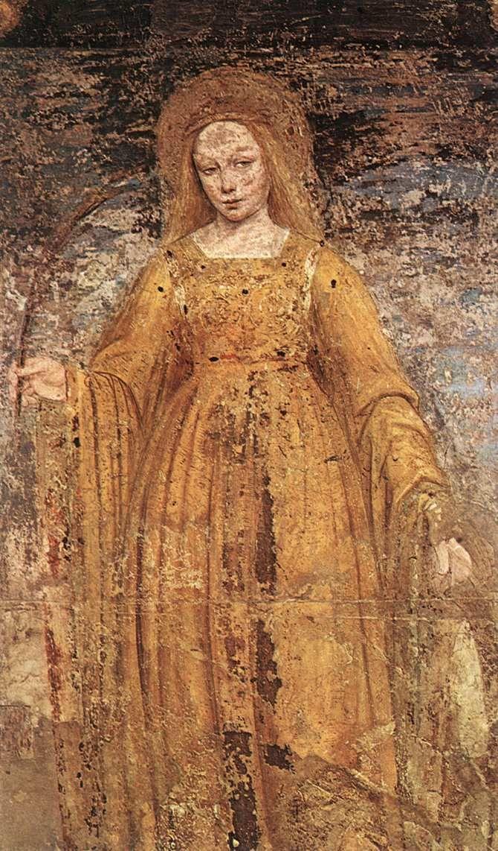 BERGOGNONE, Ambrogio St Catherine of Alexandria 1495 Detached fresco, 170 x 92 cm Pinacoteca di Brera, Milan