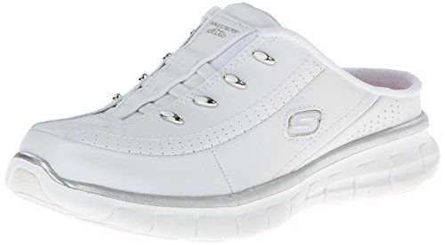 Skechers Sport Women's Elite Glam Synergy Slip-On Mule Sneaker * LEARN ADDITIONAL INFO @: http://www.passion-4fashion.com/shoes/skechers-sport-womens-elite-glam-synergy-slip-on-mule-sneaker/