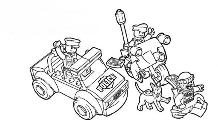 lego coloring pages police Movie