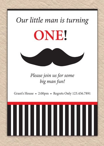 LOVE the mustache invites! May have to use this idea for Nick's second b-day :)