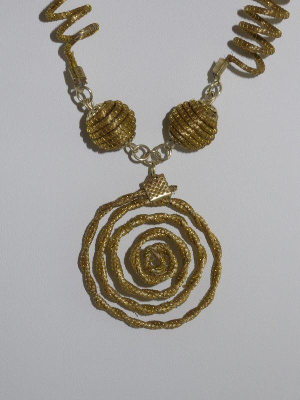 Capim Dourado (Golden Grass) Coiled Necklace  #goldengrass #brazil #sustainablefashion #jewelry #ecofriendly #handmade #handmadejewelry #brazilian #necklace #handcrafted