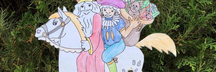 Sinterklaas trekpaard Leuk om te kleuren, knippen en plakken.