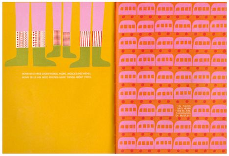 Saul Bass illustrated childrens book interior
