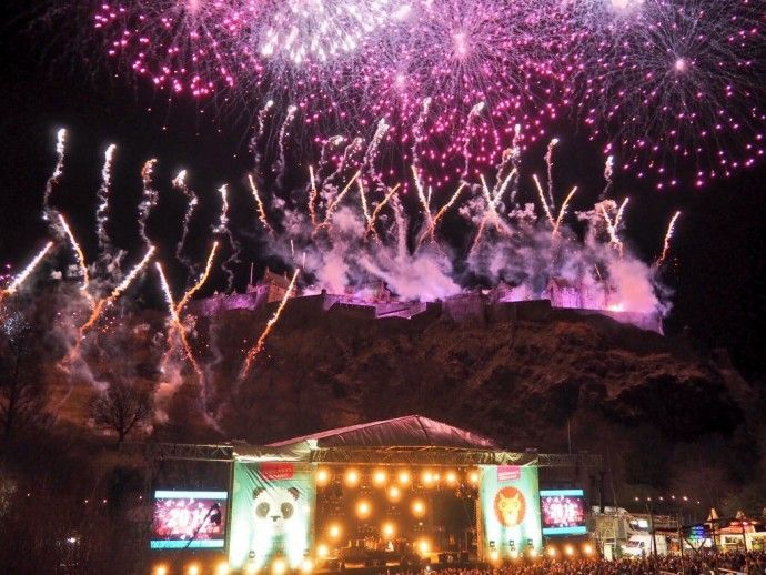 The midnight moment at Edinburgh's Hogmanay 2015/16 - so much WOW