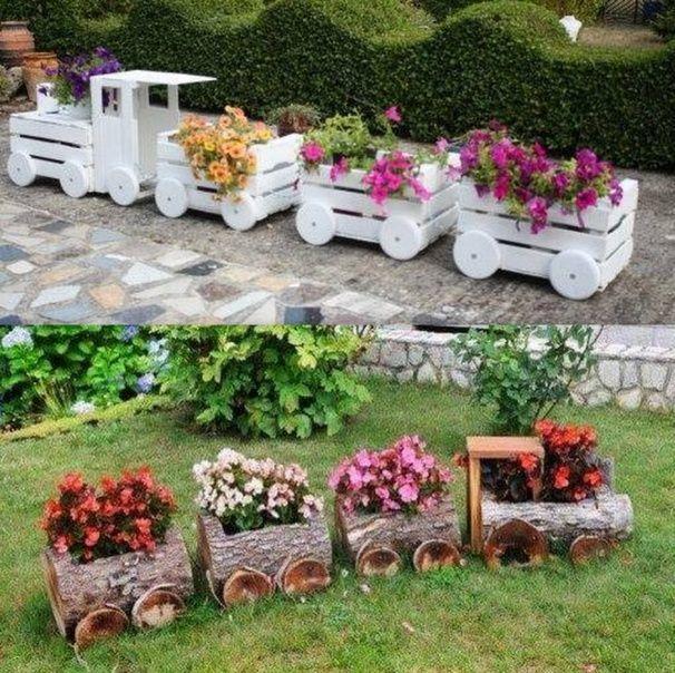Belles Idees Recup Et Deco Pour Le Jardin Garden Deco Garden