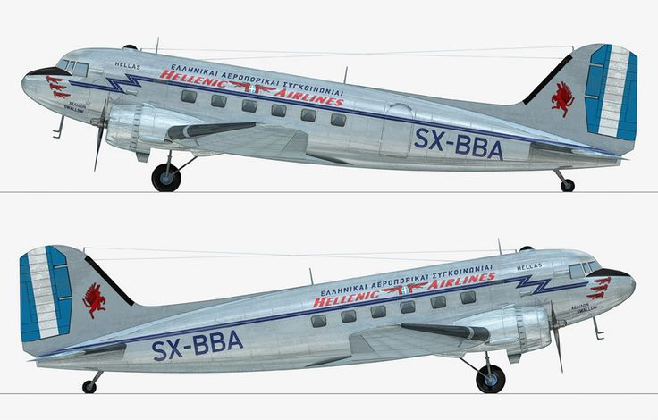 Hellenic Airlines Douglas C-47A-5-DK (DC-3) [SX-BBA] Χελιδών