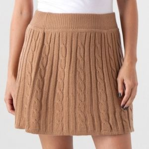 Cable Knit Sweater Skirt by reva
