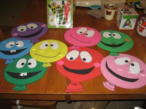 Yo Gabba Gabba Balloon Character Fun Foam by missy37 on Etsy