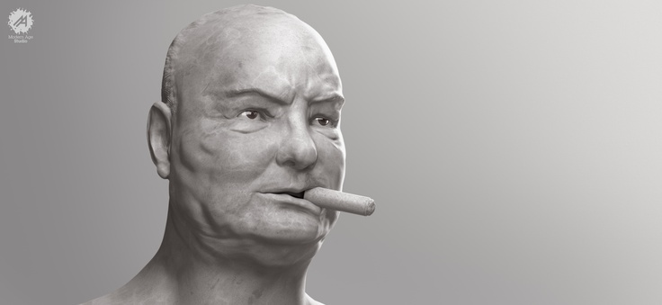 Churchill portrait    This serie Visions is a tribute to great historical icons who, even if there are not here anymore, their vision still is