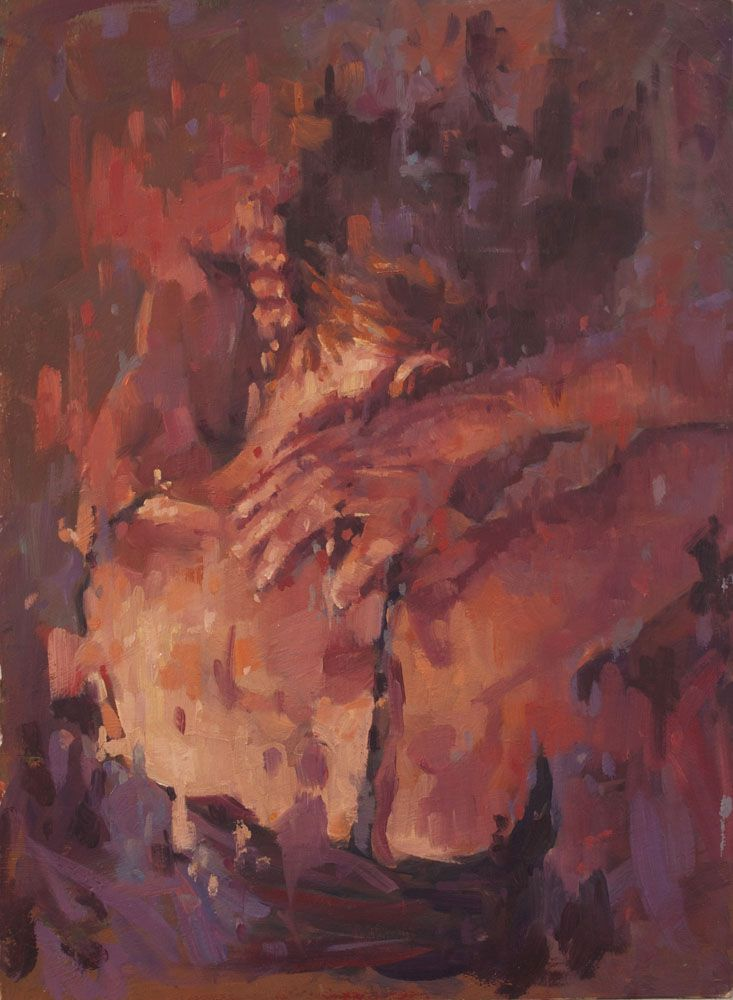 Mich in light. oil painting by Jamel Akib