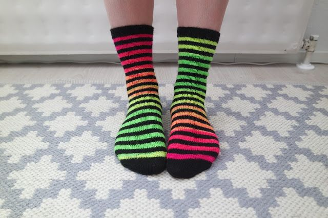 Crazy neon socks!