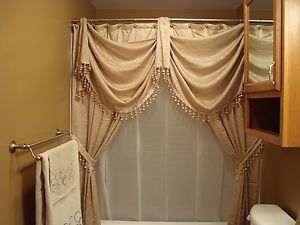 shower curtain valance | JcPenney-Splendor-Shower-Curtain-Cascade-Valance-Excellent-Bronze-Gold ...