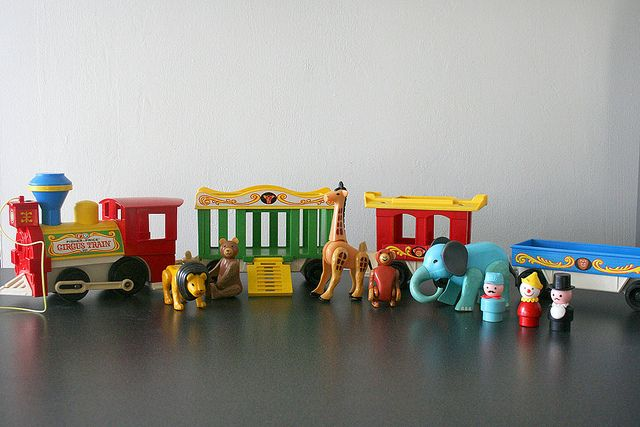 Circus Train. I think I still have some of the animals -- my dog chewed up some of them so they have teeth marks