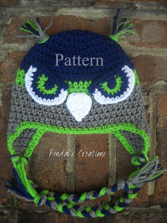 Hawk/Falcon Crochet PATTERN_Not the Actual Item/PATTERN for 7 Sizes: Newborn Through Adult
