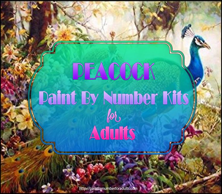 Beautiful #Peacock Paint By Number Kits • Paint By Number For Adults #PaintByNumberKits http://paintbynumberforadults.com/peacock-paint-by-number-kits/