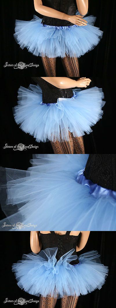 Skirts 150666: Adult Tutu Mini Micro French Blue Skirt Dance Costume Roller Derby Gogo Bridal -> BUY IT NOW ONLY: $30 on eBay!