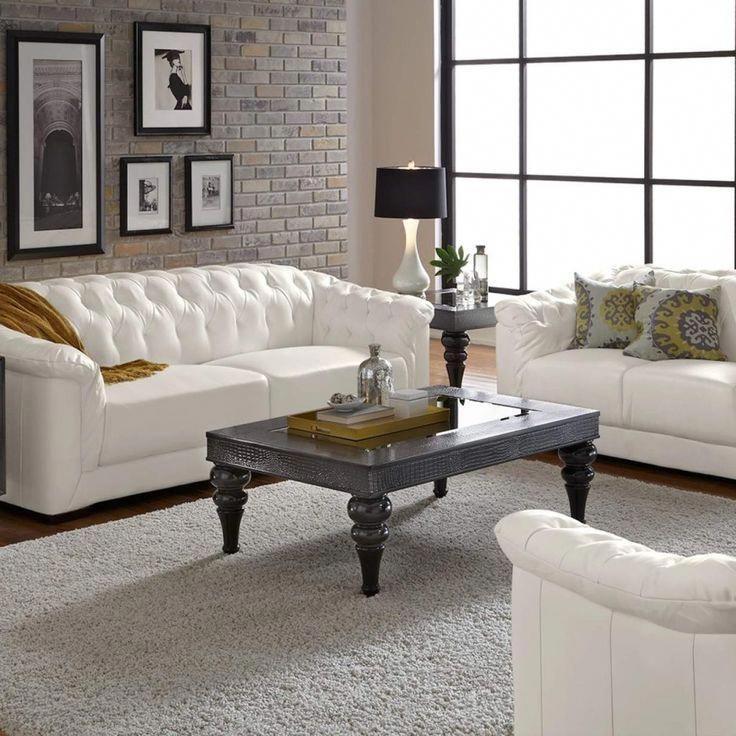 Weisse Leder Sofas Ideen Auf Luxus Wohnzimmer Design Ideen Mit