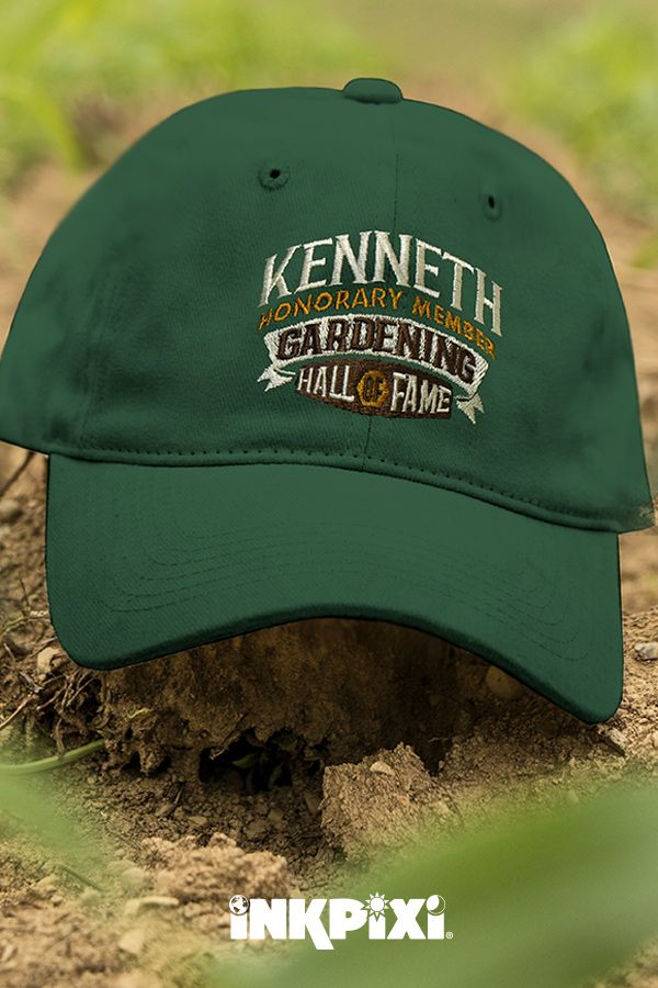 Gardening Hall Of Fame Forest Green Embroidered Hat Personalized