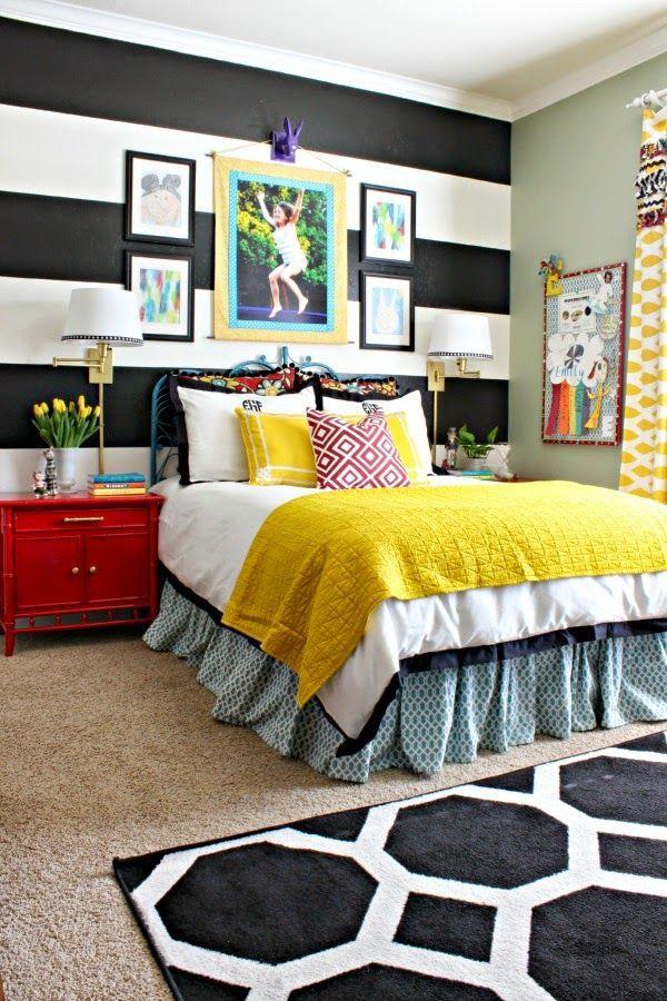 Yellow teenage girl bedroom set #10