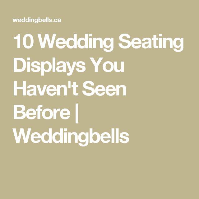 10 Wedding Seating Displays You Haven't Seen Before | Weddingbells