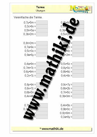 Terme vereinfachen zwei Variable rationale Zahlen - www.mathiki.de - Ihre…