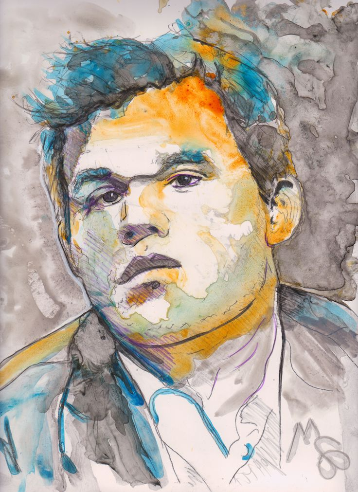 Magnus Carlsen World Chess Champion Watercolor