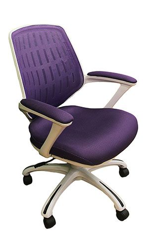 Purple Home Mesh Office Chair  Price: $188.55  Breathable purple mesh back. Thick padded mesh seat. Adjustable height and tilt. Padded armrests. Heavy duty nylon base with dual wheel casters This purple and white chair is perfect for your home office or dorm room. The mesh back and cushion breath to help you stay comfortable during long hours of studying or writing your novel.  You'll be surprised at how a little color and comfort will help you stop putting off writing that paper or filing…