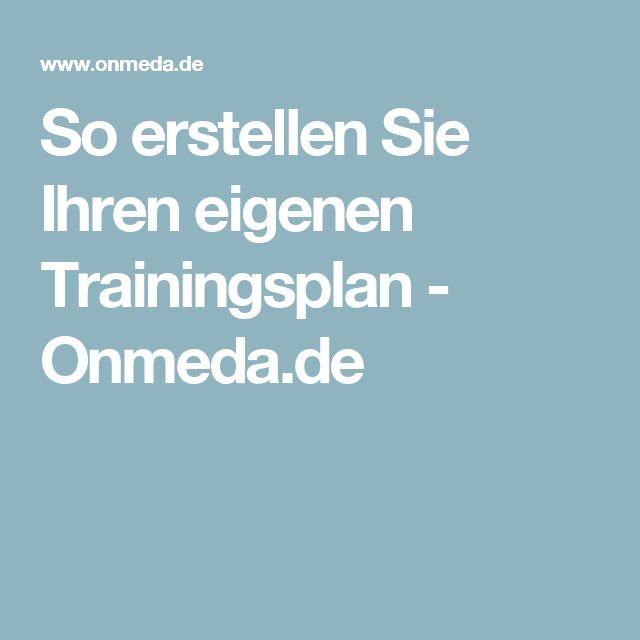 So erstellen Sie Ihren eigenen Trainingsplan - Onmeda.de