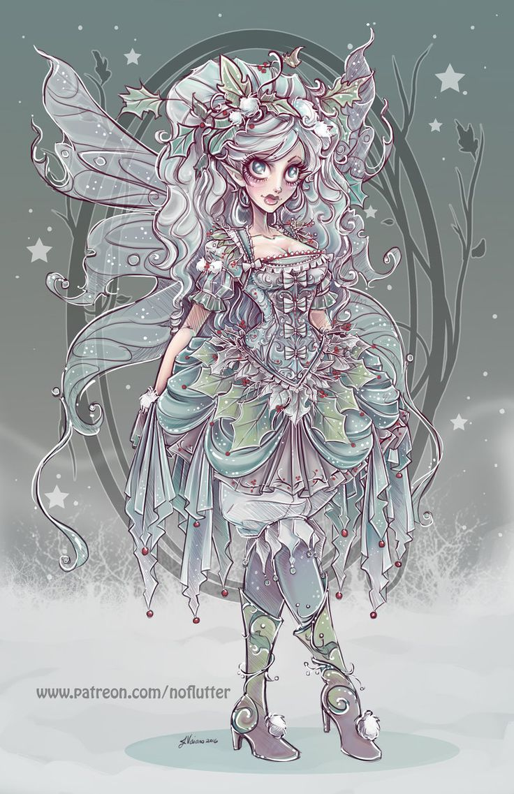 Winter Fairy by NoFlutter.deviantart.com on @DeviantArt