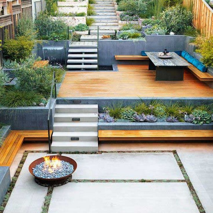 Small Backyard Landscaping Ideas on A Budget | Sloped yard ... on Small Sloped Backyard Ideas On A Budget id=51685