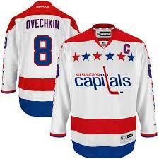Alex Ovechkin Washington Capitals # 8 White Stitched NHL Jersey