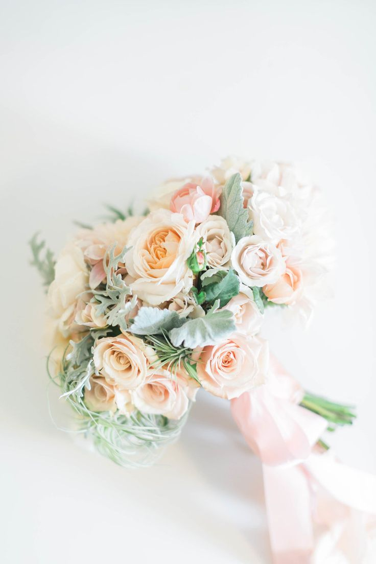 a romantic pastel bouquet featuring peach roses and soft shades of rh pinterest es